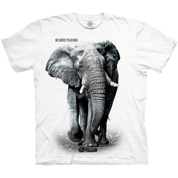 ELEPHANT NO POACHING Adult T-shirt