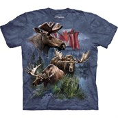 Canadian Moose Collage T-shirt Adult