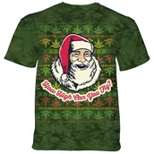 Fly High Santa T-shirt Adult