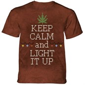 Lit Cannabis T-shirt Adult
