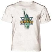 Lady Liberty Hanukkah T-shirt, Adult