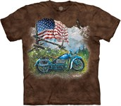 Biker Americana t-shirt, Adult 2XL