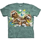 Sloth Family Selfie T-shirt