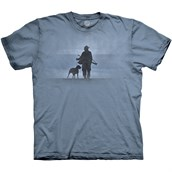 Hunter And His Dog T-shirt Adult
