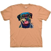 Happy Rottweiler T-shirt Adult