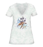 Ride the Waves Women V-Neck, GRØN
