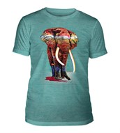 Painted Elephant Mens Triblend, TEAL