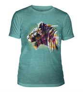 Painted Lion Mens Triblend, TEAL