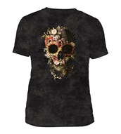 Garden Skull Mens Triblend, SORT