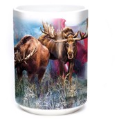 Canadian Moose Collage Ceramic mug 4,4 dl.