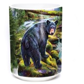 Black Bear Forest Ceramic mug 4,4 dl.