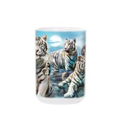 Night Tiger Collage Ceramic Mug