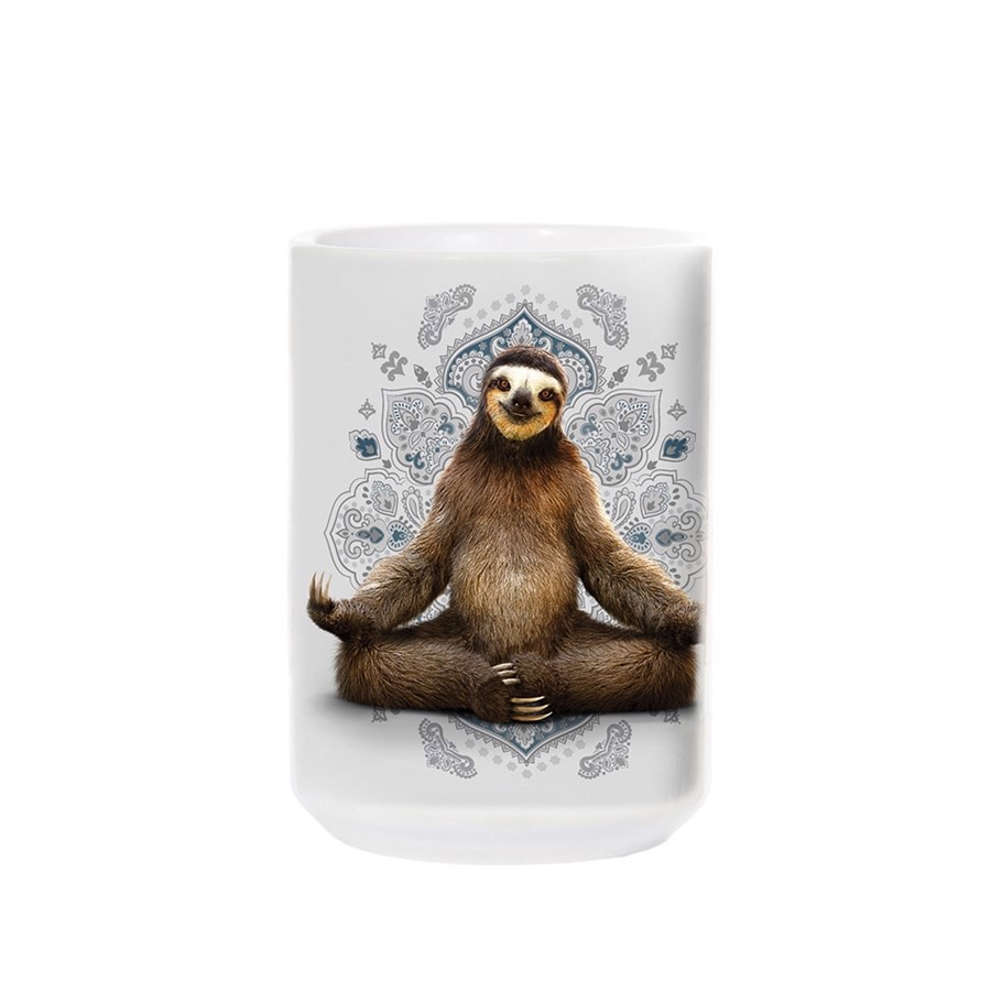 Vriksasana Sloth Yoga Ceramic Mug