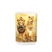Lion Pair Ceramic Mug