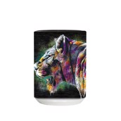 Painted Lion Ceramic Mug