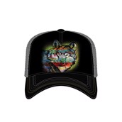 Painted Wolf Trucker Cap