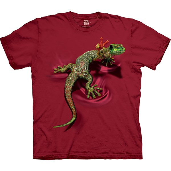 T-shirt Unisex Adult - PEACE OUT GECKO, Red