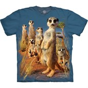T-shirt Unisex Adult - MEERKAT PACK, Blue