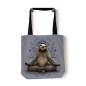 Vriksasana Sloth Tote Bag, GRÅ