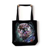 Painted Jaguar Tote Bag