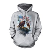 American Eagle Flag, Adult hoodie, 2XL
