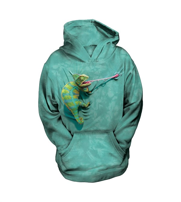 Climbing Chameleon child hoodie, Small