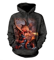 Fire Dragon adult hoodie