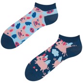 Good Mood adult low socks - FLYING PIGS