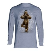 Namaste Sloth long sleeve, Adult Medium