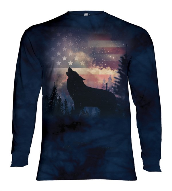 Patriotic Howl long sleeve, Adult Small