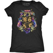 Golden Hogwarts Crest Ladies T-shirt Adult