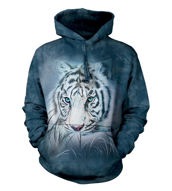Thoughtful White Tiger adult hoodie