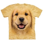 T-shirt fra The Mountain - bluse med Golden Retriever