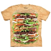 T-shirt fra The Mountain - bluse med burger