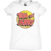 Tom and Jerry Logo Ladies T-shirt