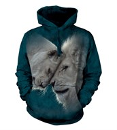 White Lions Love adult hoodie