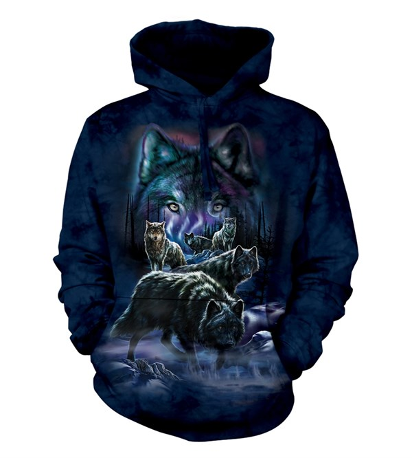Wolf Pack adult hoodie, Medium