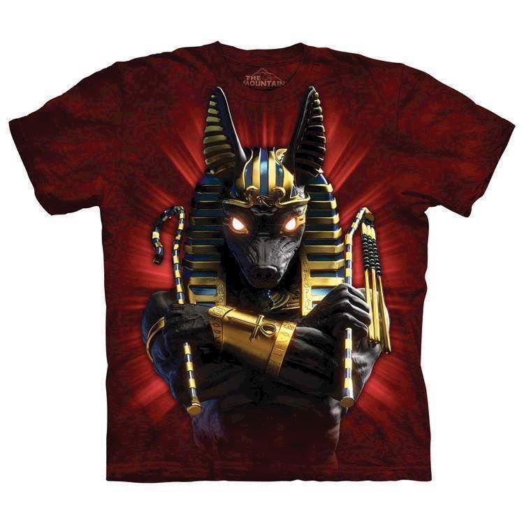 T-shirt fra The Mountain - bluse med Anubis