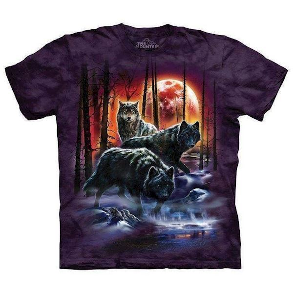 Fire And Ice Wolves t-shirt, Adult 3XL