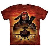 The Mountain tshirt - med indianer- og helikopter-motiv