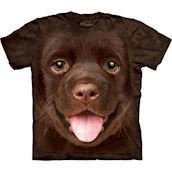 The Mountain tshirt - bluse med brun labrador
