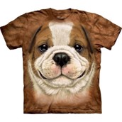 The Mountain tshirt - bluse med Bulldog hvalp