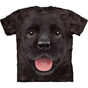 The Mountain tshirt - bluse med sort labrador hvalp