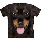 The Mountain tshirt - bluse med Gravhund hvalp