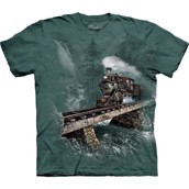 The Mountain tshirt - bluse med togmotiv