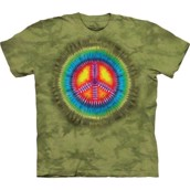 The Mountain tshirt - bluse med peace-tegn
