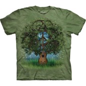 T-shirt fra The Mountain - bluse med guitar-tryk