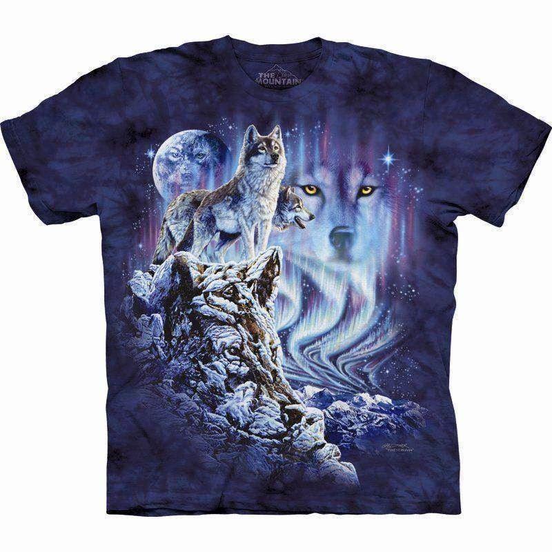 T shirt med ulve der gemmer sig find 10 vilde ulve for Adult medium t shirt