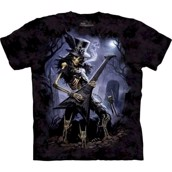 T-shirt fra The Mountain - bluse med metal-motiv