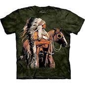 The Mountain tshirt - bluse med indianertryk